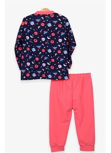 Breeze Bebek Pijama Takımı Uzay Temalı Lacivert  Lacivert
